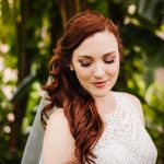 Outdoor Garden Bride Portrait | Whimsical Dusty Purple and Blue Downtown St Pete Wedding at Historic Venue NOVA 535