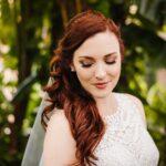 Outdoor Garden Bride Portrait | Whimsical Dusty Purple and Blue Downtown St Pete Wedding at Historic Venue NOVA 535
