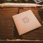 Craft paper wedding programs