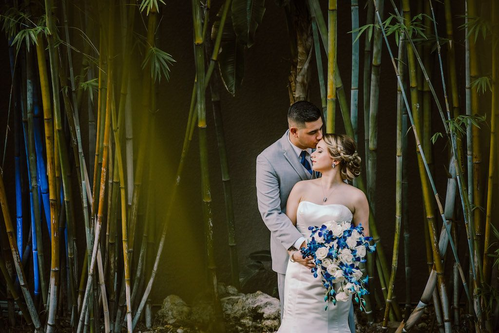 Blue and white wedding at bamboo gardens in St Pete at NOVA 535