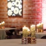 Greenery floating candle centerpieces