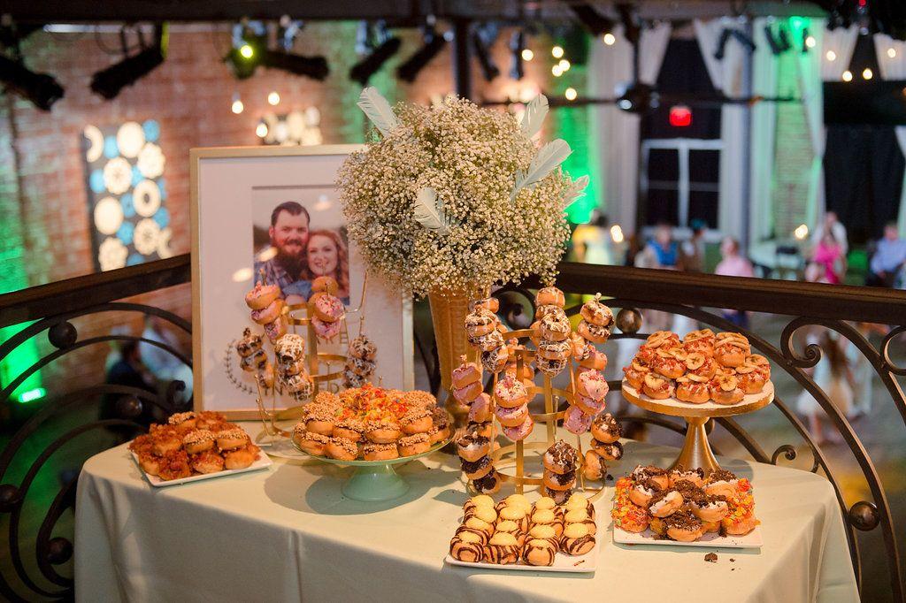 Doughnut bar at industrial wedding in St. Pete at NOVA 535