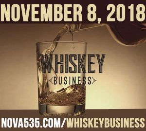 Thursday November 8, 2018 Whiskey Business at Downtown St. Pete historic venue NOVA 535 in DTSP