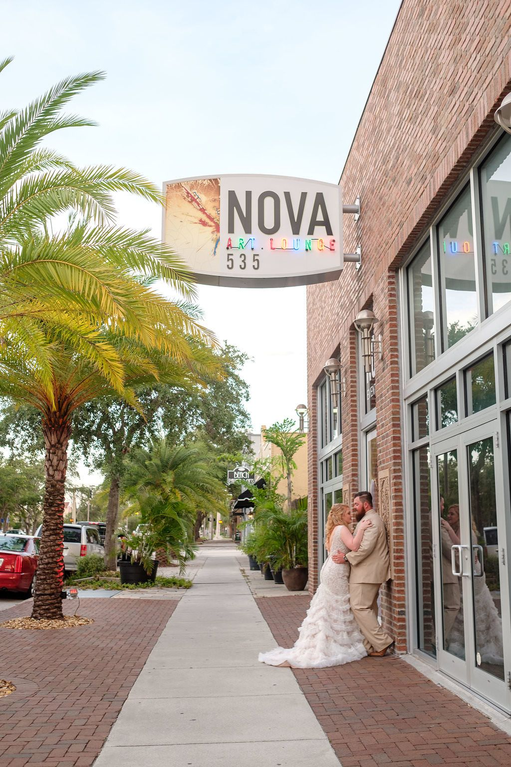 Industrial greenery wedding at NOVA 535 in St. Pete