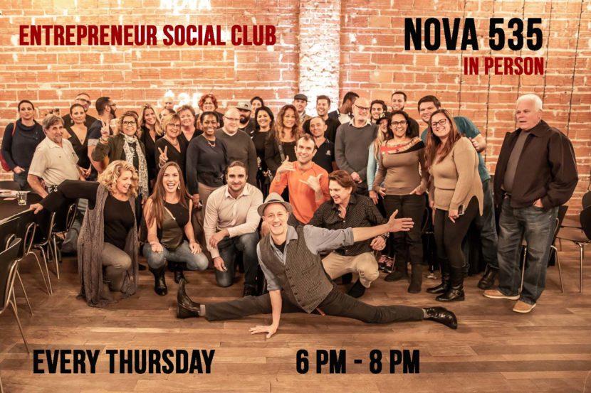 Thursdays 6pm-8pm the Entrepreneur Social Club meets at historic, downtown, St. Pete venue NOVA 535