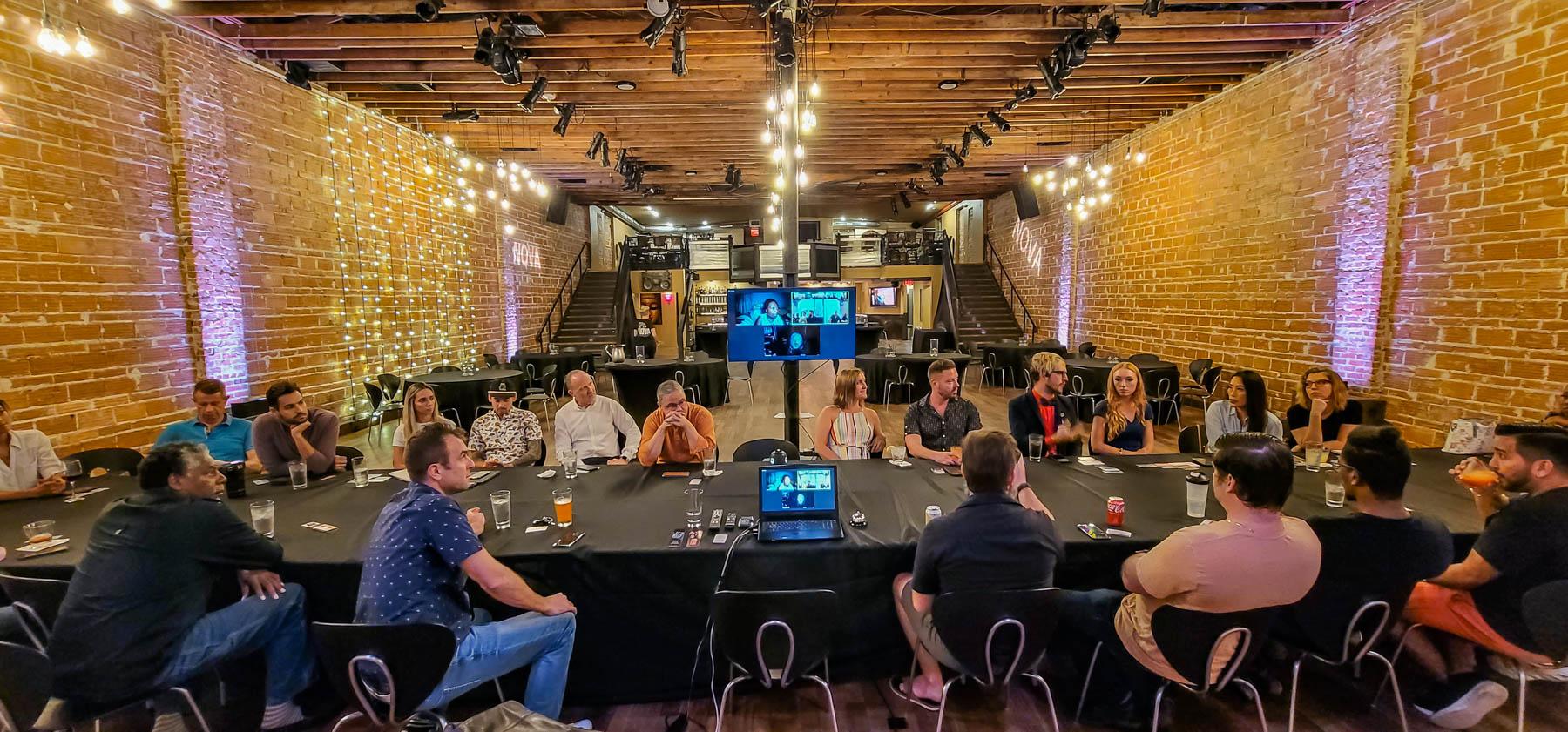 Entrepreneur Social Club at historic downtown St. Pete venue NOVA 535 and on ZOOM