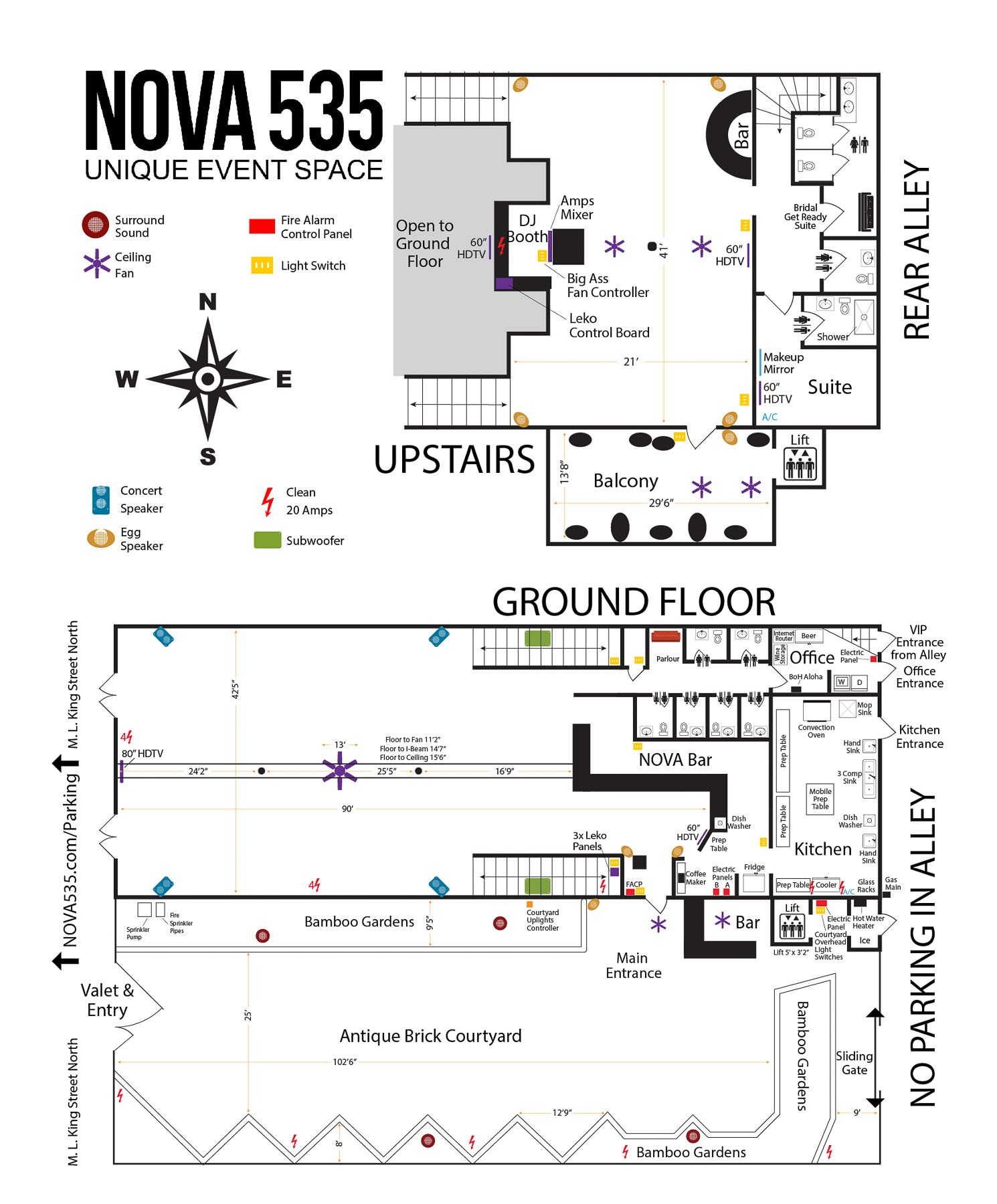 2019 downtown St. Pete venue NOVA 535 Venue Map for NOVA 535 website