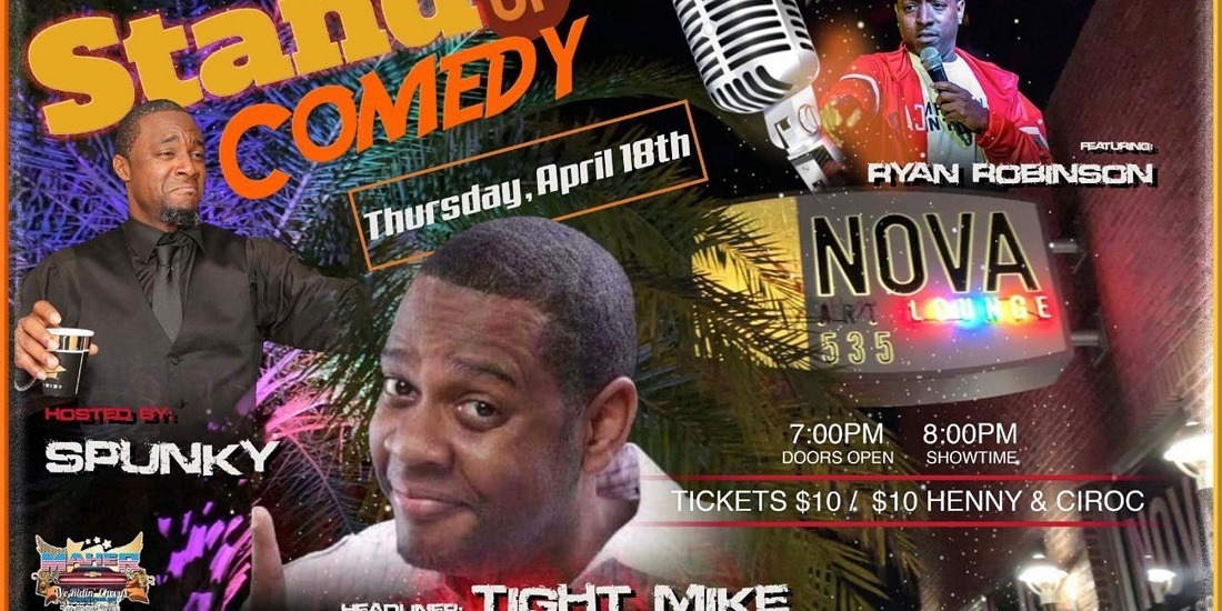 2019 04-18 NOVA Comedy Night at downtown St. Pete venue NOVA 535 - flyer