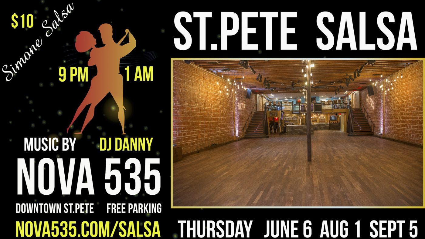 St. Pete Salsa by Simone at historic downtown St. Pete venue NOVA 535