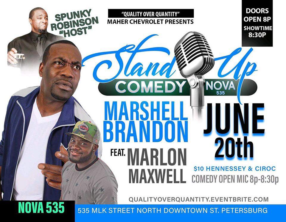 2019 06-20 NOVA Comedy Night at historic St. Pete venue NOVA 535 - flyer