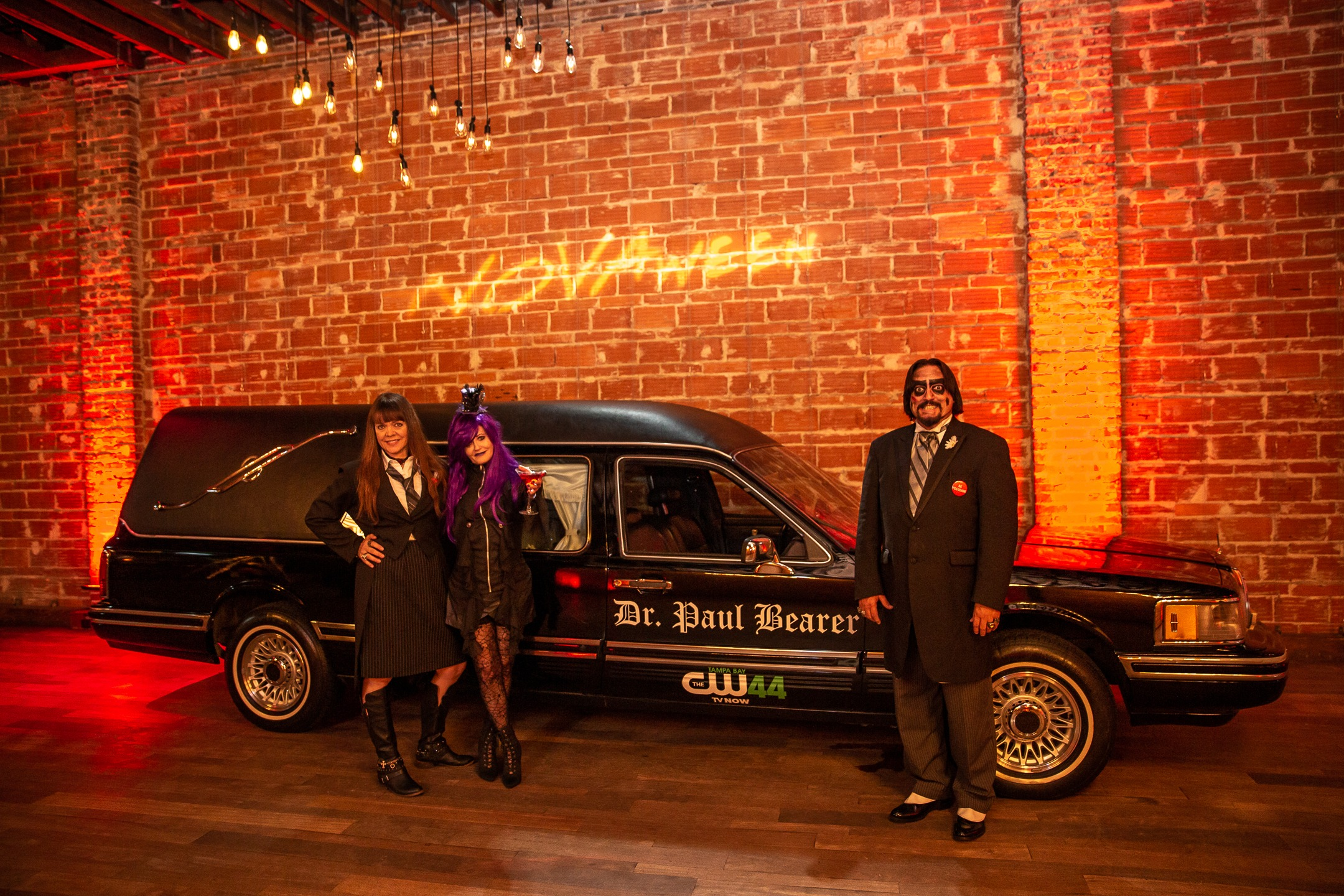 Novaween 13 Costumes and Contests on Halloween Night 10-31-2019 at Downtown St. Pete venue NOVA 535 Dr Paul Bearer with Nancy Alexander