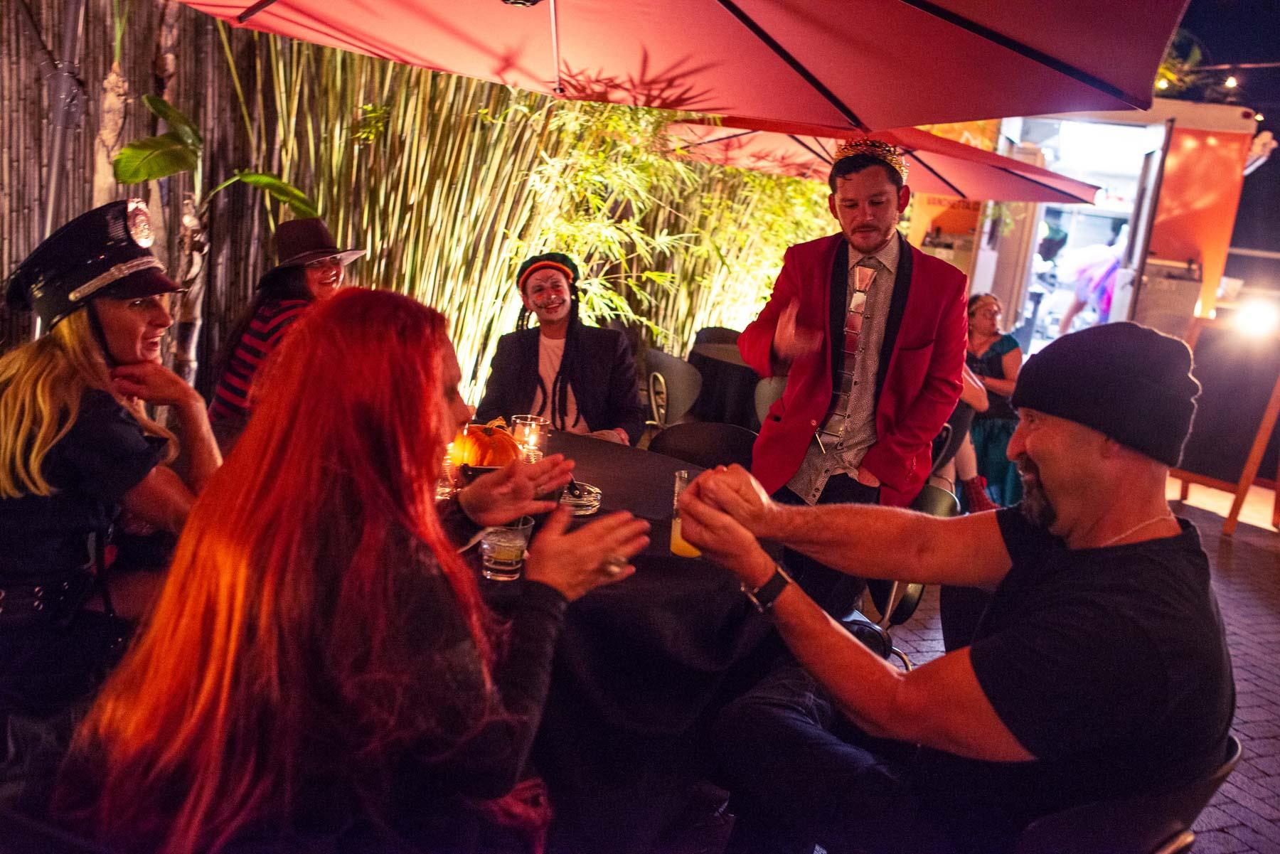 Novaween 13 Costumes and Contests on Halloween Night 10-31-2019 at Downtown St. Pete venue NOVA 535 Corv Van Valin Magician