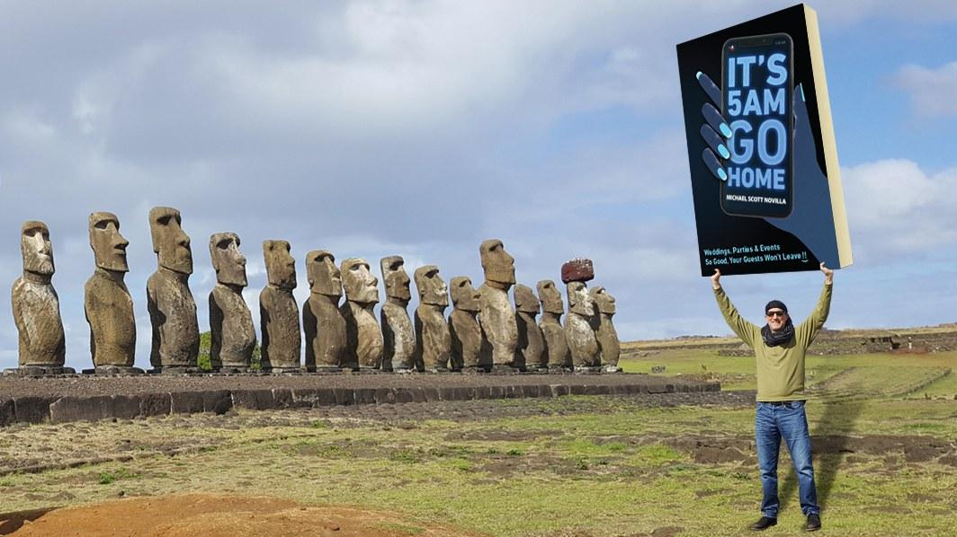 2019 It's 5 AM Go Home BOOK by Michael Scott Novilla Easter Island