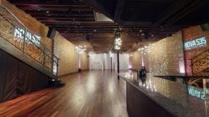 Downstairs, main bar, facing west, NOVA 535 unique event space, downtown St. Pete, Florida