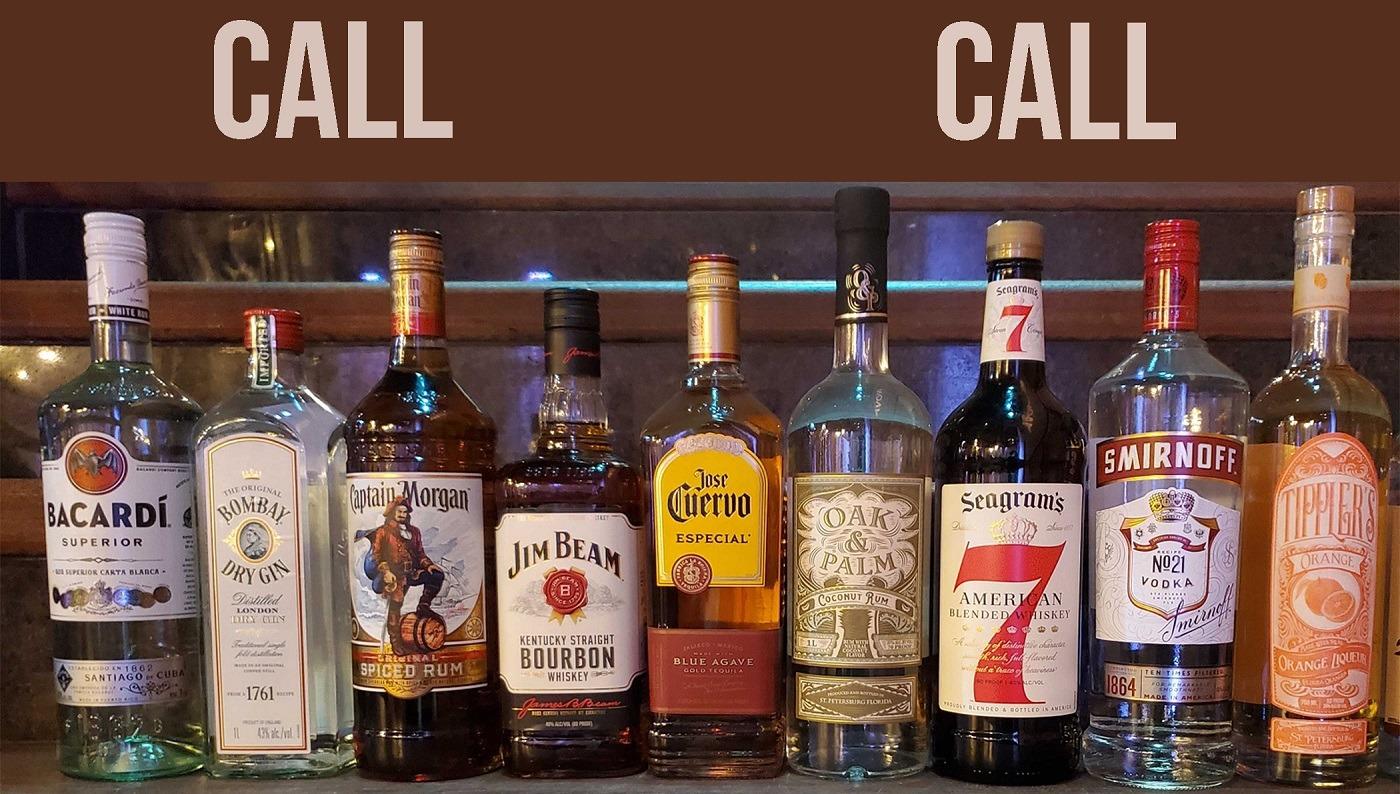 2020 07-21 CALL Liquor Bottles on Stairs - NOVA 535 - Drink Menu