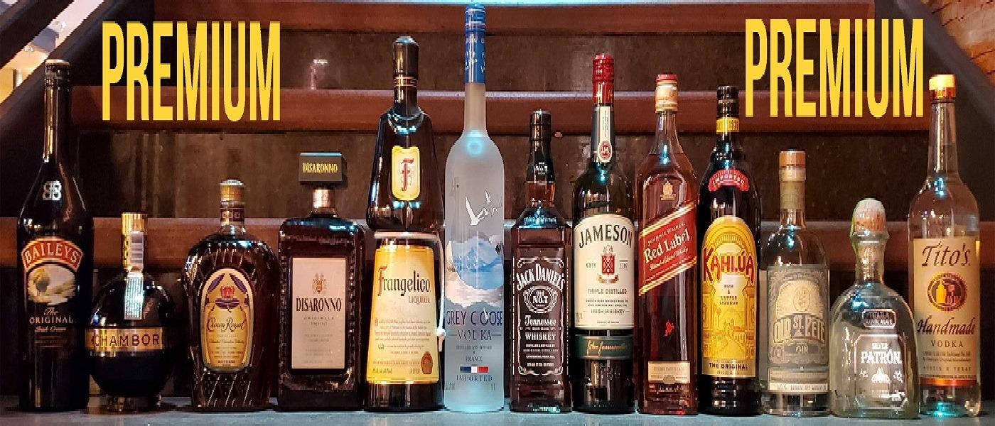 2020 07-21 PREMIUM Liquor Bottles on Stairs - NOVA 535 - Drink Menu