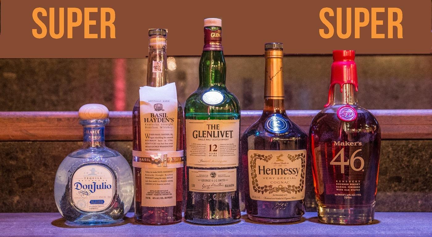 2020 07-21 SUPERNOVA Liquor Bottles on Stairs - NOVA 535 - Drink Menu