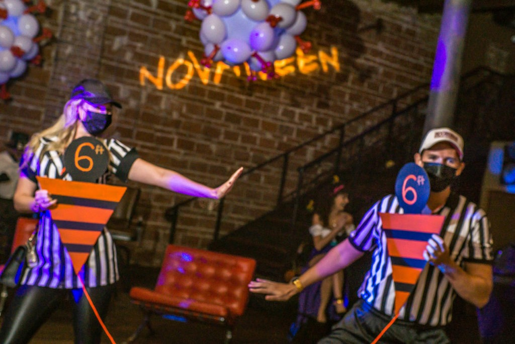 "2020 10-31 Novaween 14 ""Quarantine"" at historic downtown St. Pete, Florida venue NOVA 535 with Social Distancing 6 feet rule"
