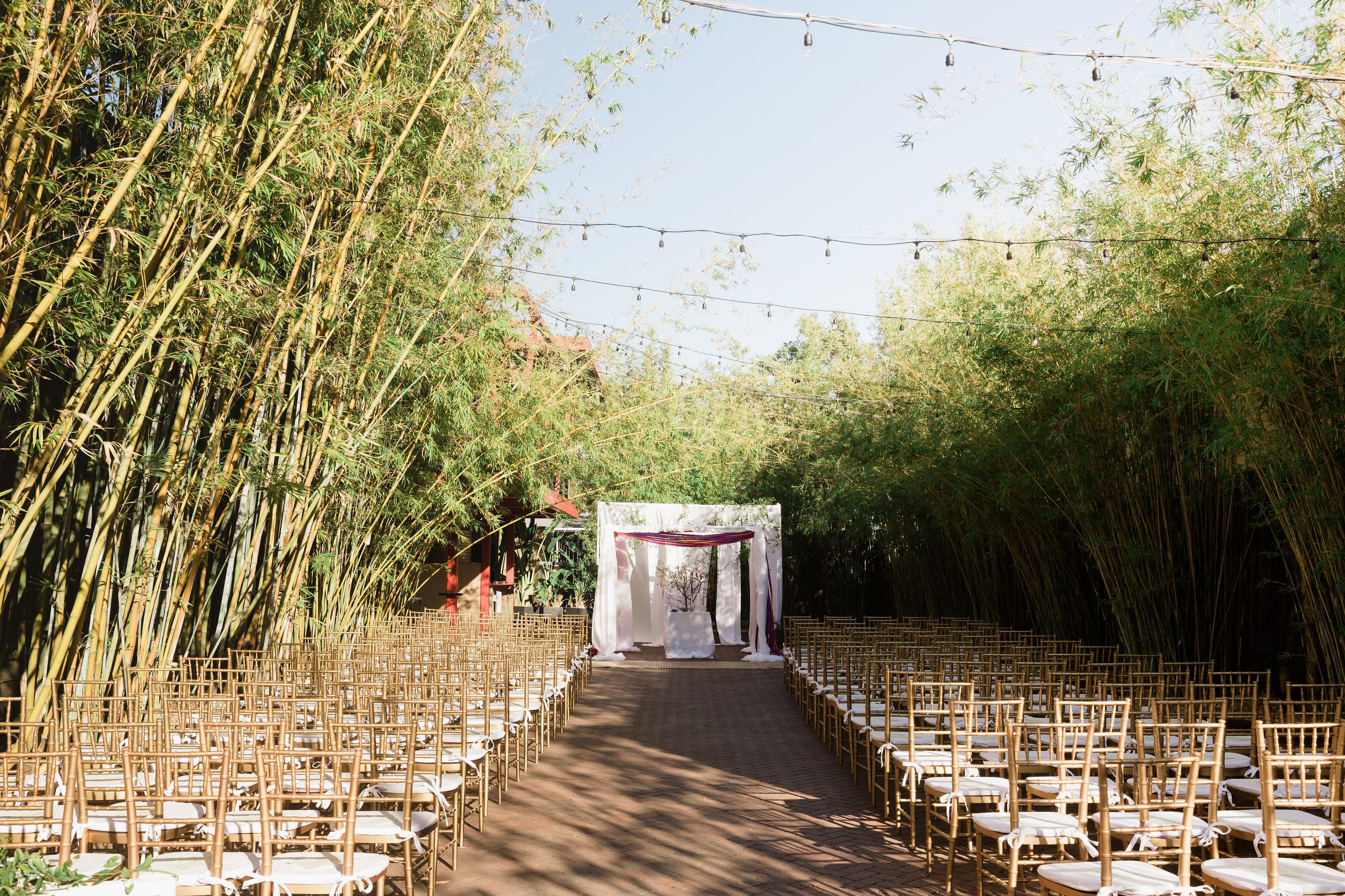Ceremony in bamboo garden at NOVA 535 in St. Petersburg Florida