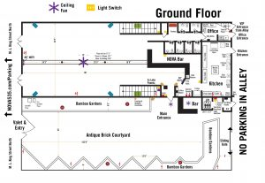 2019 historic downtown St. Pete venue NOVA 535 Venue Map and Dimensions - ground floor